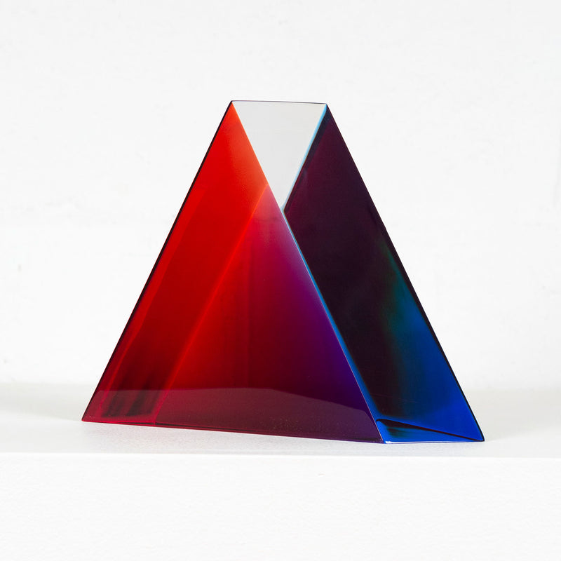 Vasa Mihich sculpture Caviar20 purple blue triangle 1990