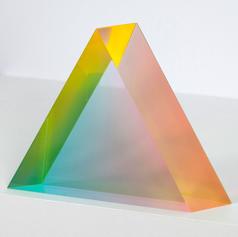 Vasa Mihich Pastel Triangle acrylic sculpture 1992 Caviar20