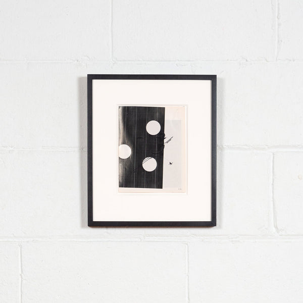 Wade Guyton, A 39 J, Epson DURAbrite inkjet on book page, 2007, Caviar 20, shown exhibited and framed on white brick wall