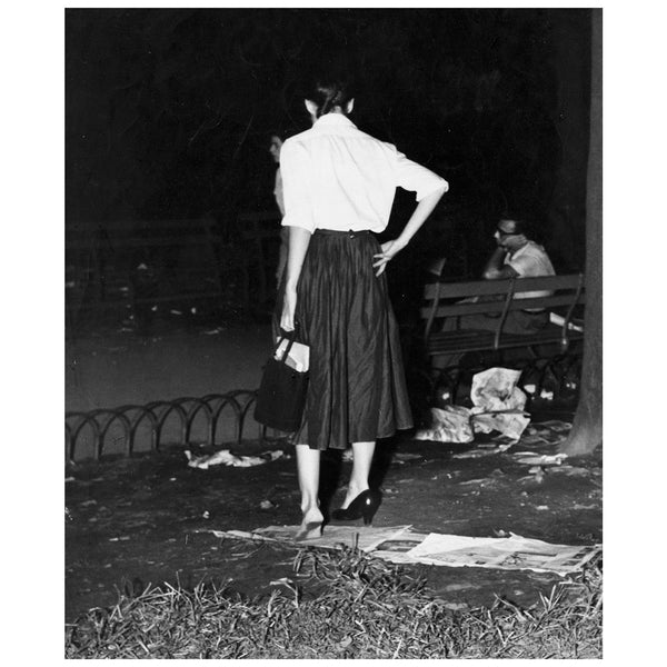 Weegee black and white photograph Girl with a problem 1940 Caviar20