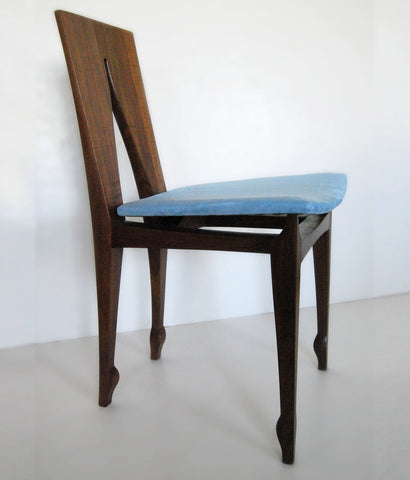 "YORGO LIAPIS ""NOUVEAU"" CHAIR IN WALNUT"