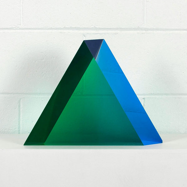 Vasa Mihich triangle acrylic green Caviar20 sculpture