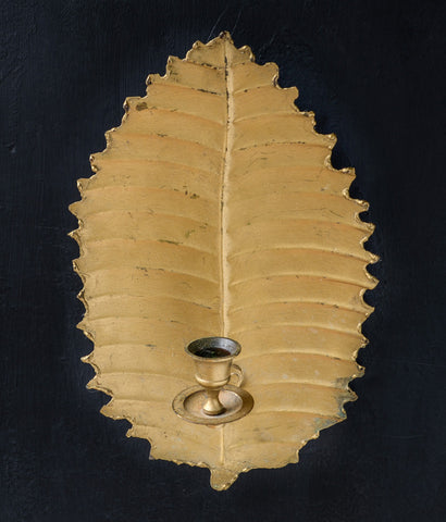 "PAIR OF ""GOLD PALM"" CANDLE SCONCES"