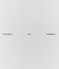 "FELIX GONZALES-TORRES ""MEMORIAL DAY WEEKEND"" 1989"