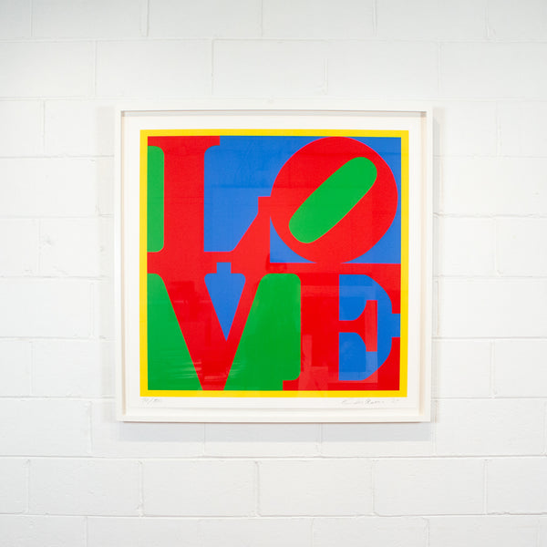 Robert Indiana, Heliotherapy Love, screenprint, 1995 Caviar20, exhibition view