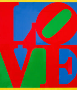 Robert Indiana, Heliotherapy Love, screenprint, 1995 Caviar20