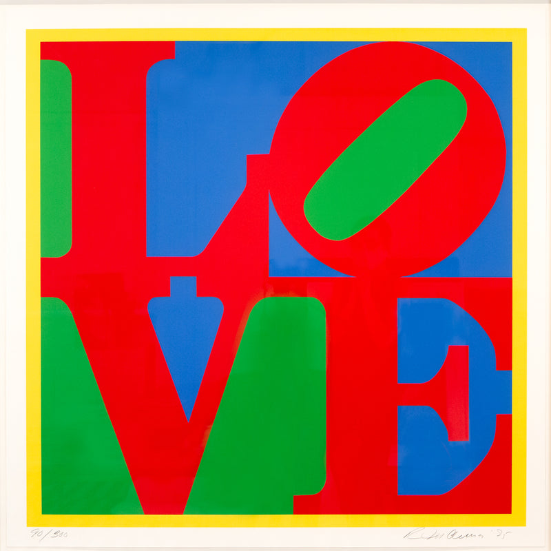 Robert Indiana, Heliotherapy Love, screenprint, 1995 Caviar20, full work
