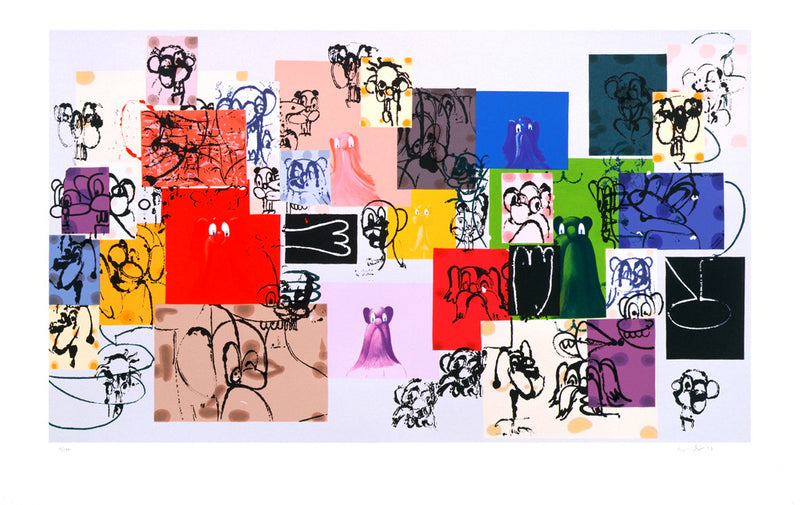 "GEORGE CONDO ""PAPER FACES"" SCREEN PRINT"