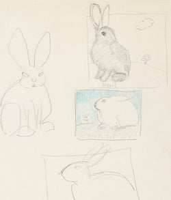 Joyce Wieland drawing bunnies works on paper Caviar20