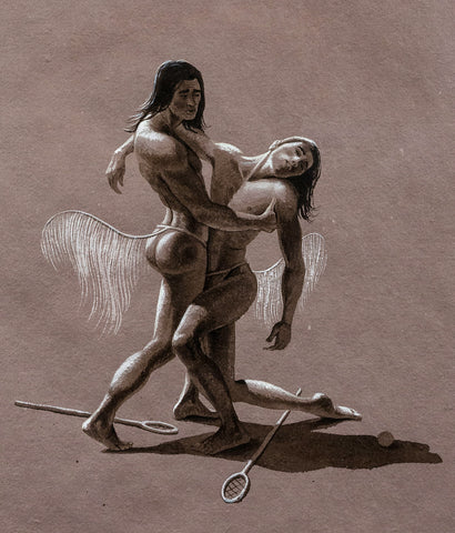 "KENT MONKMAN ""STUDY OF APOLLO & HYACINTHUS"" DRAWING, 2008"