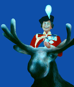 Charles Pachter prints, Queen on Moose, Caviar20