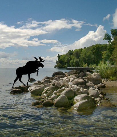 "CHARLES PACHTER ""MOOSE LANDING"""
