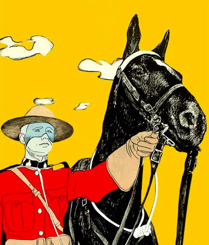 "CHARLES PACHTER ""YELLOW MOUNTIE"" 1970"