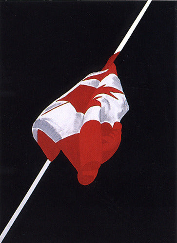 "CHARLES PACHTER ""PAINTED FLAG (FEMALE)"" 1981"
