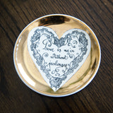 "FORNASETTI SET OF 5 ""LOVE"" SMALL PLATES"