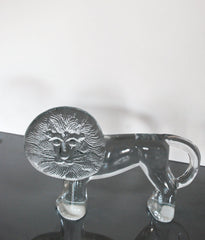 "KOSTA BODA ""GRAND LION"" GLASS FIGURE"