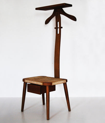 """TIDY DANE"" OAK & CORD VALET CHAIR"