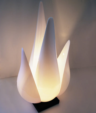 "ROUGIER ""TULIP"" ACRYLIC TABLE LAMP"
