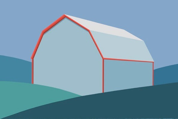 "CHARLES PACHTER ""GRAY BARN"" GICLEE PRINT"