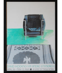 DAVID HOCKNEY 1969 EXHIBITION POSTER, FRAMED