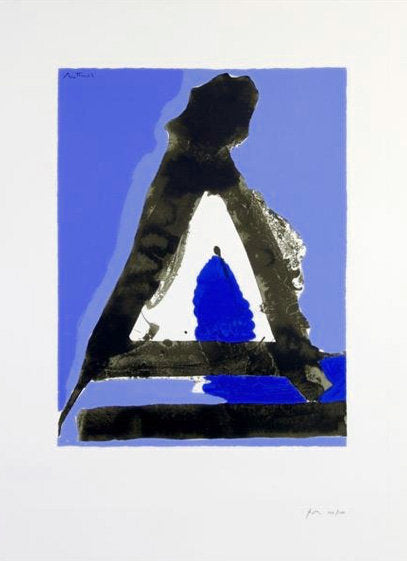 MOTHERWELL UNTITLED (LETTER A) LITHOGRAPH