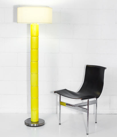 "TAHIR MAHMOOD ""YELLOW TINGA"" CUSTOM FLOOR LAMP"
