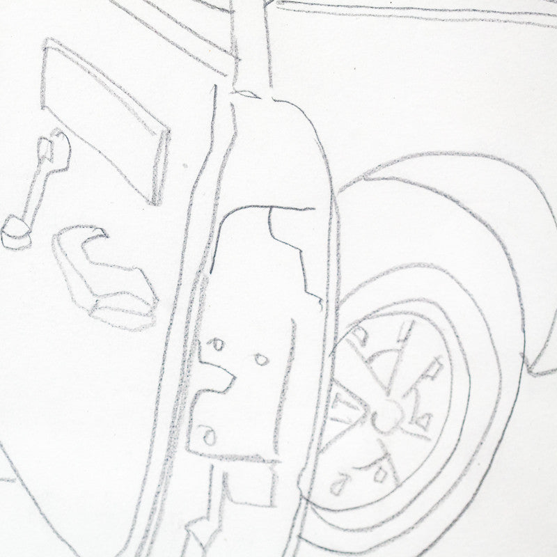 "CHARLES PACHTER ""CAR DRAWING"" CIRCA 1983"