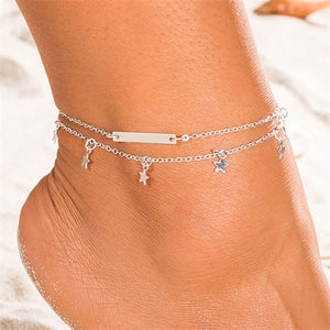 2 for 1 - Star and Bar - Anklet