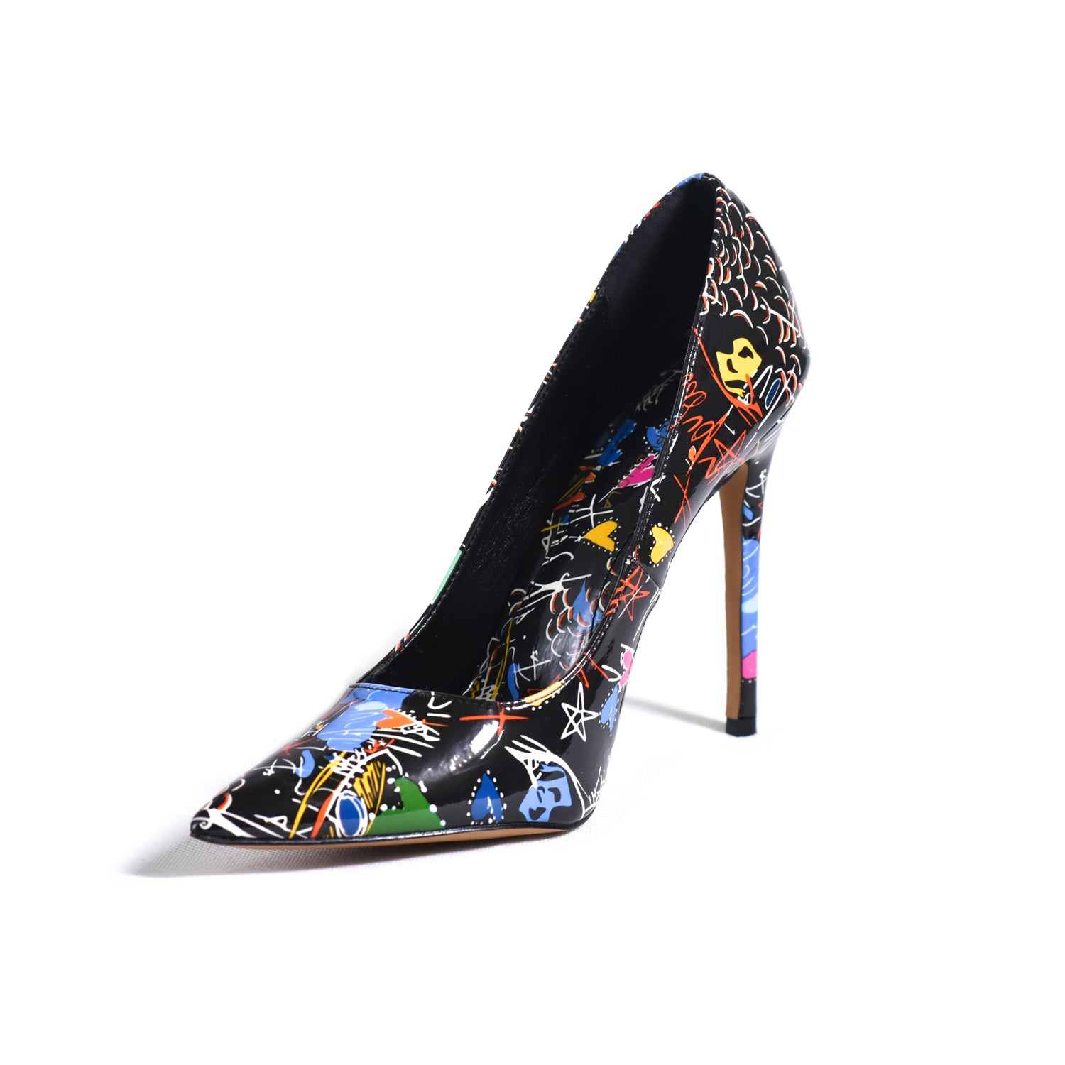 High heel and multiple colors shoe