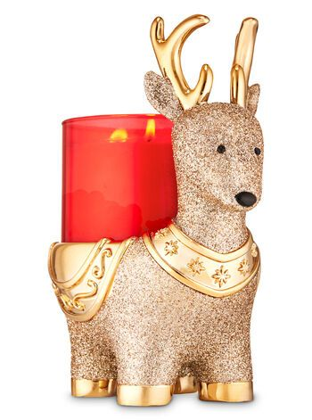 حامل الشمعة العطرية  Reindeer Pedestal 3-Wick Candle Holder from bath and body work