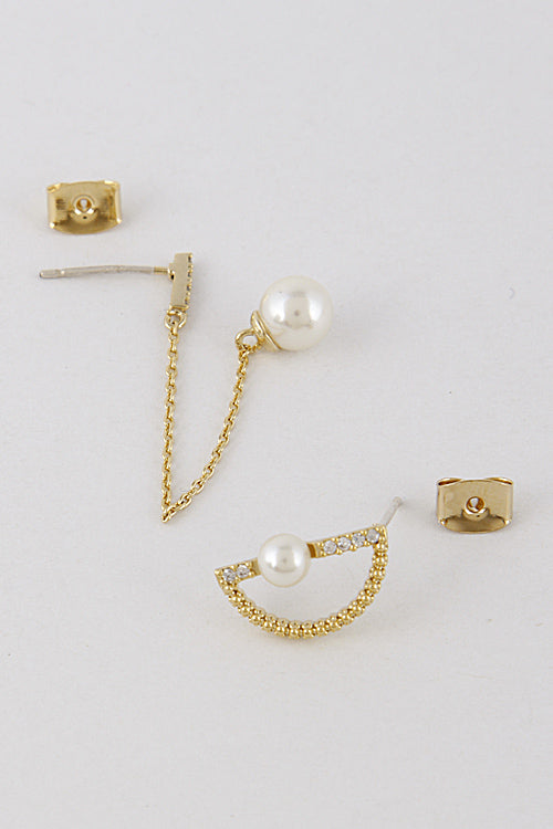 Lovely Daily Earring with Pearl Attachment