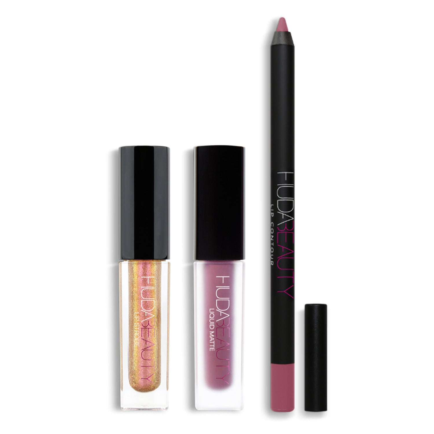 HUDA BEAUTY LIP CONTOUR & STROBE SET(TROPHY WIFE/SHAMELESS)