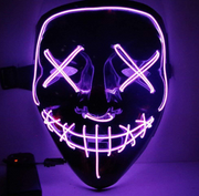 Surpriseyou Black V Halloween Horror Glowing Mask Purple