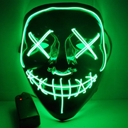 Surpriseyou Black V Halloween Horror Glowing Mask Green