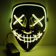 Surpriseyou Black V Halloween Horror Glowing Mask Yellow