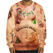 Ugly Christmas Sweater Naked Belly - SURPRISEYOU