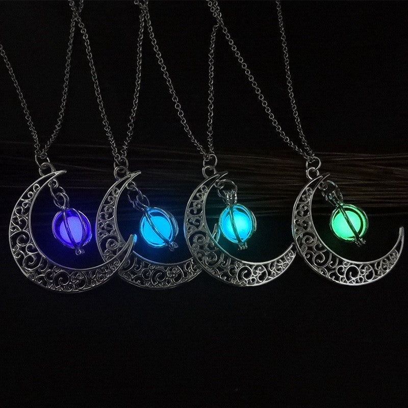 Crescent Moon Glow Necklace - SURPRISEYOU