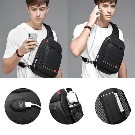 Phantom Bl4ck™️ - Smart Sling Shoulder Bag
