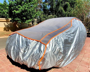 Padded hail protection vehicle cover by Carmour