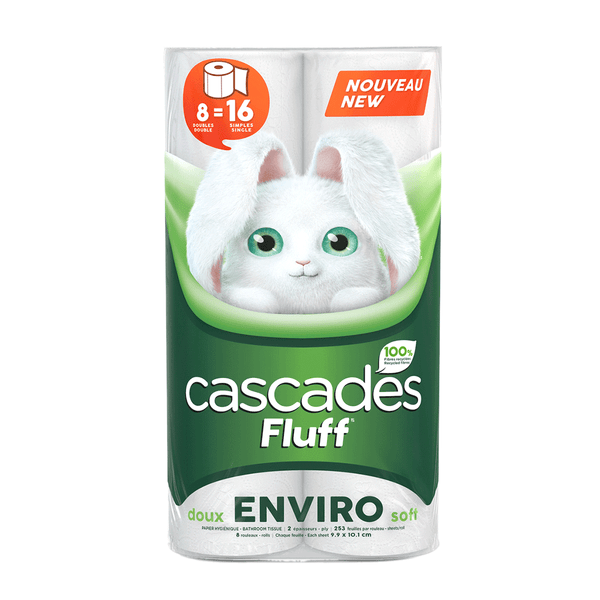 Cascades Enviro 8 Double Rolls Bathroom Tissue