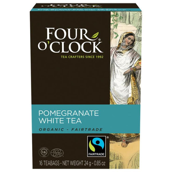 Four O' Clock Teas Organic White Pomegranate