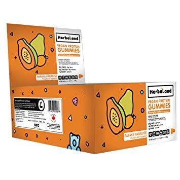 Herbaland Case Deal Papaya Paradise Protein Gummies