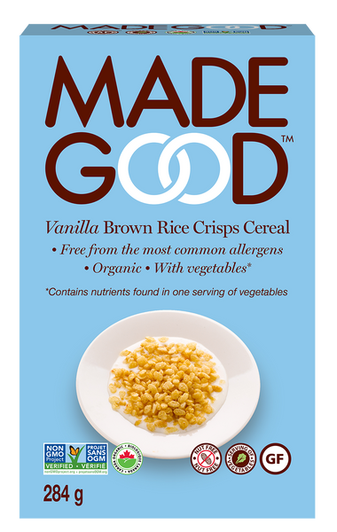 Made Good Vanilla Brown Rice Crisps Cereal