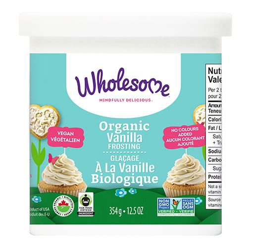 Wholesome Organic Vanilla Frosting