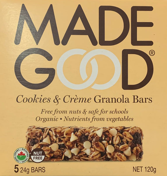 Made Good Cookies & Creme Granola Bars