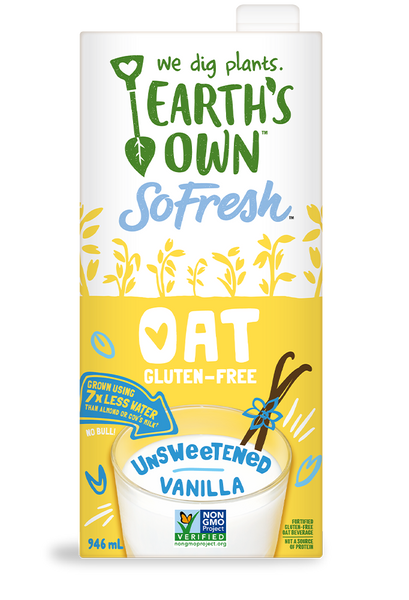Earth's Own Unsweetened Vanilla Oat Milk