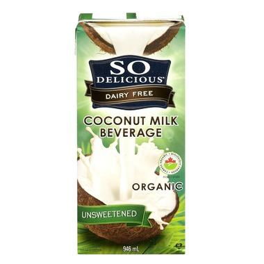 So Delicious Organic Unsweetened Coconut Milk Beverage