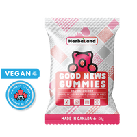 HerbaLand Good News Gummies Rad Raspberry