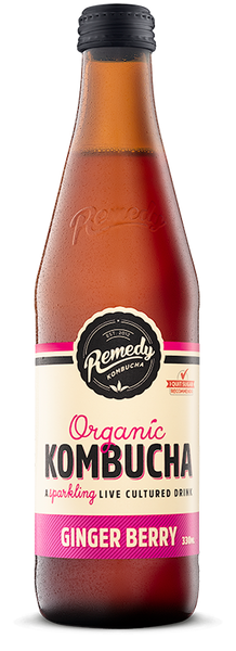 Remedy Kombucha Ginger Berry