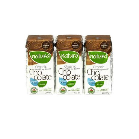 Natura Mini Chocolate Soy Milk (200ml 3-pack)